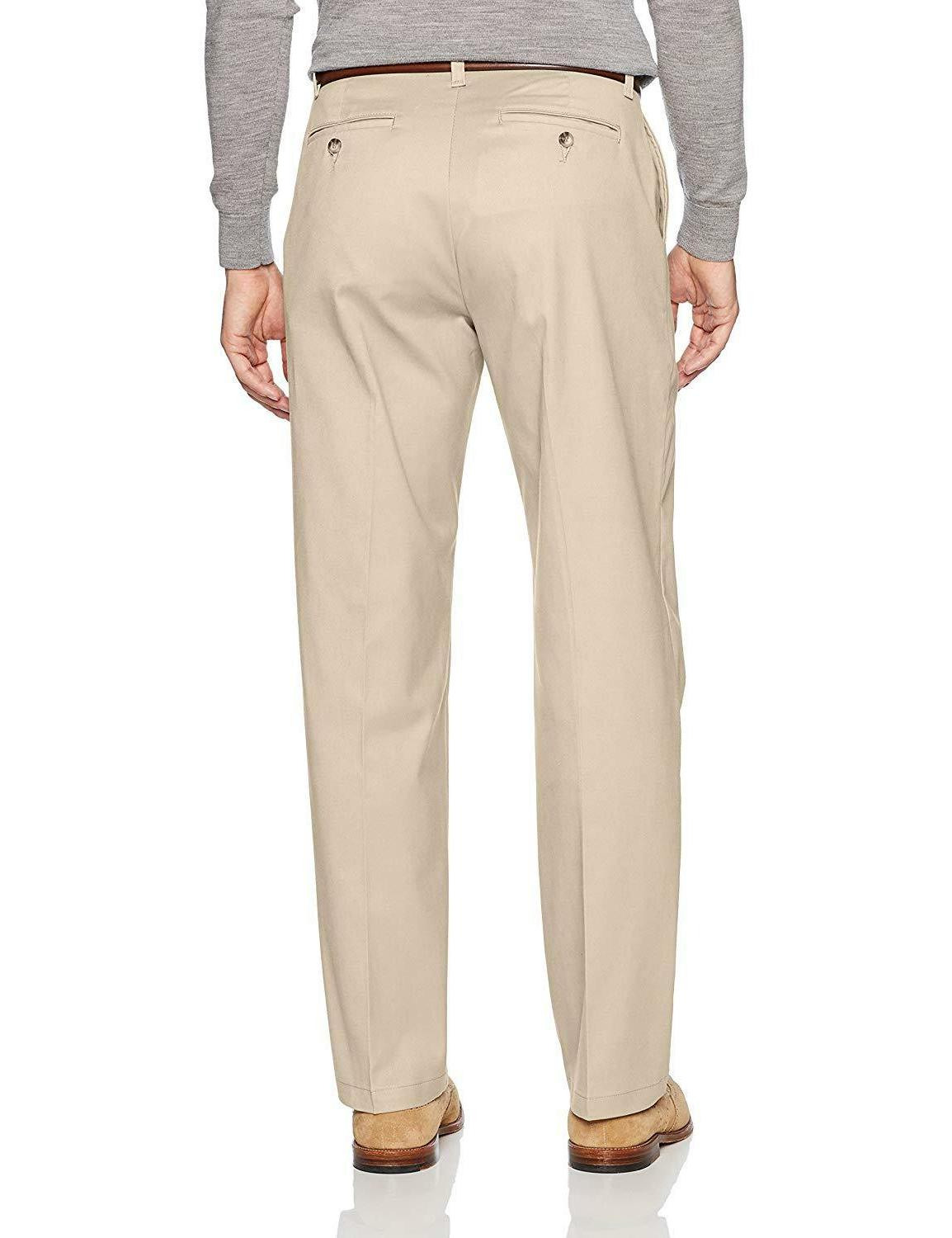 LEE Men's Stretch Relaxed Flat Front Pant