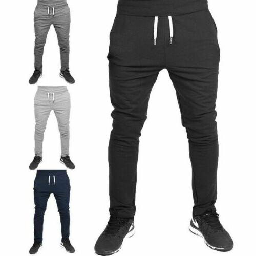 Men Casual Long Sport Pants Gym Slim Fit Trousers Running Jo