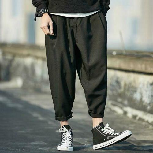 Men Baggy Cropped Capri Pants