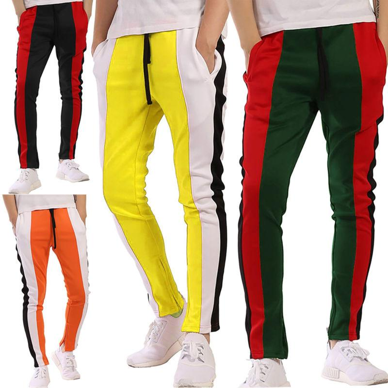 Men Track Casual Joggers Gym Sweats Trousers