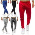 Men Pure Color Pocket Overalls Casual Pocket Sport Work Casu