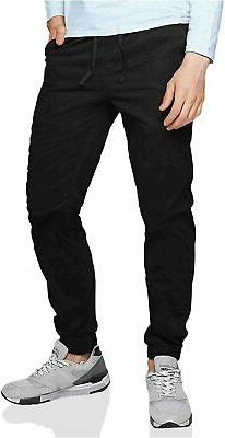 Match Men's Chino Jogger Pants, 6535 Black, Size 36 yygn