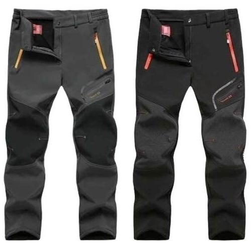 Men's Fleece Lined Hiking Pants Casual Spring Sport Trousers
