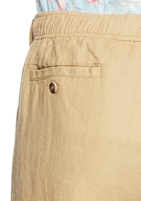 28 Relaxed-fit Linen Drawstring Pants Tan Size