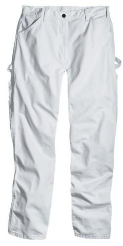 Dickies Men's Painter's Utility Pant Relaxed Fit, White, 38x