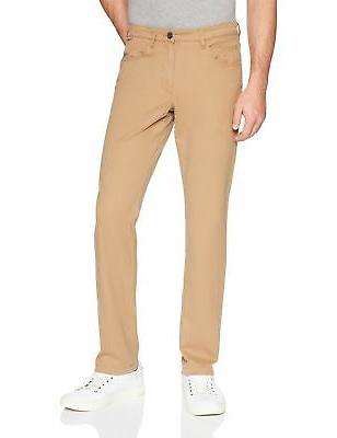 Goodthreads Men's Slim-Fit 5-Pocket Chino Pant Khaki 34W x 3