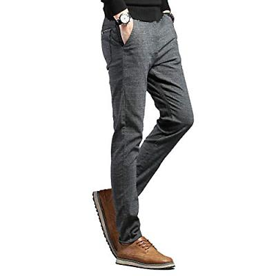 Movard Casual Wrinkle-Free, Flat Front Trousers
