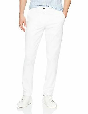 Goodthreads Men's Slim-Fit Washed Chino Pant White 35W x 29L