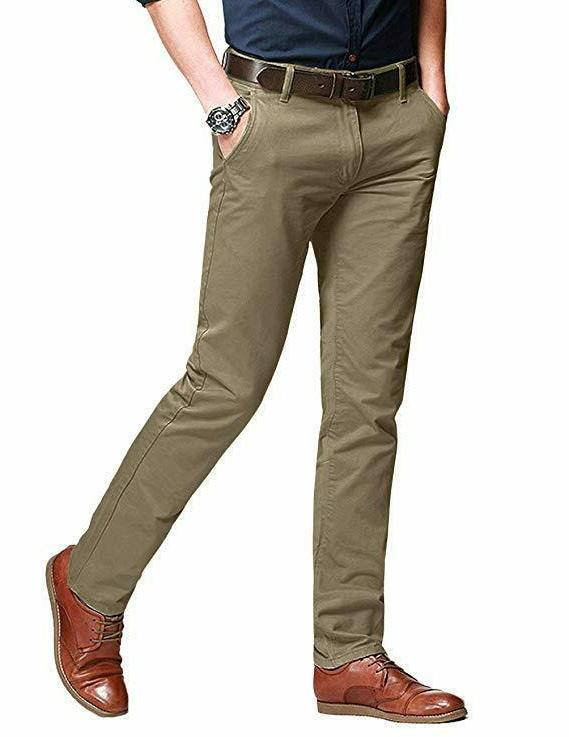 Match Men's Slim Tapered Stretchy Casual Pants