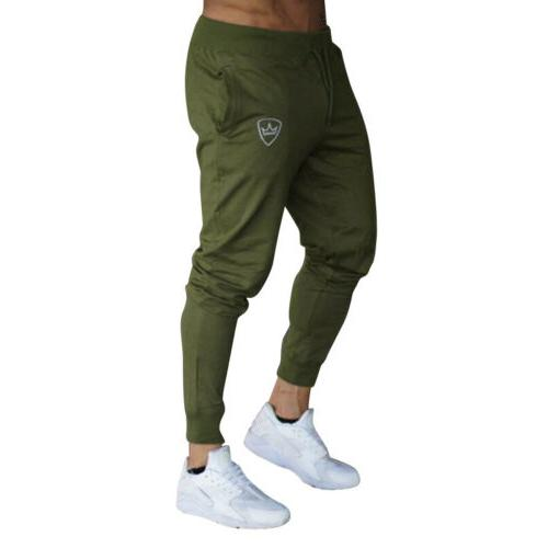 Men Tracksuit Sport Pants Skinny Jogging Joggers Sweat US