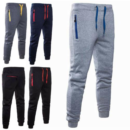 men sport pants long trousers tracksuit fitness