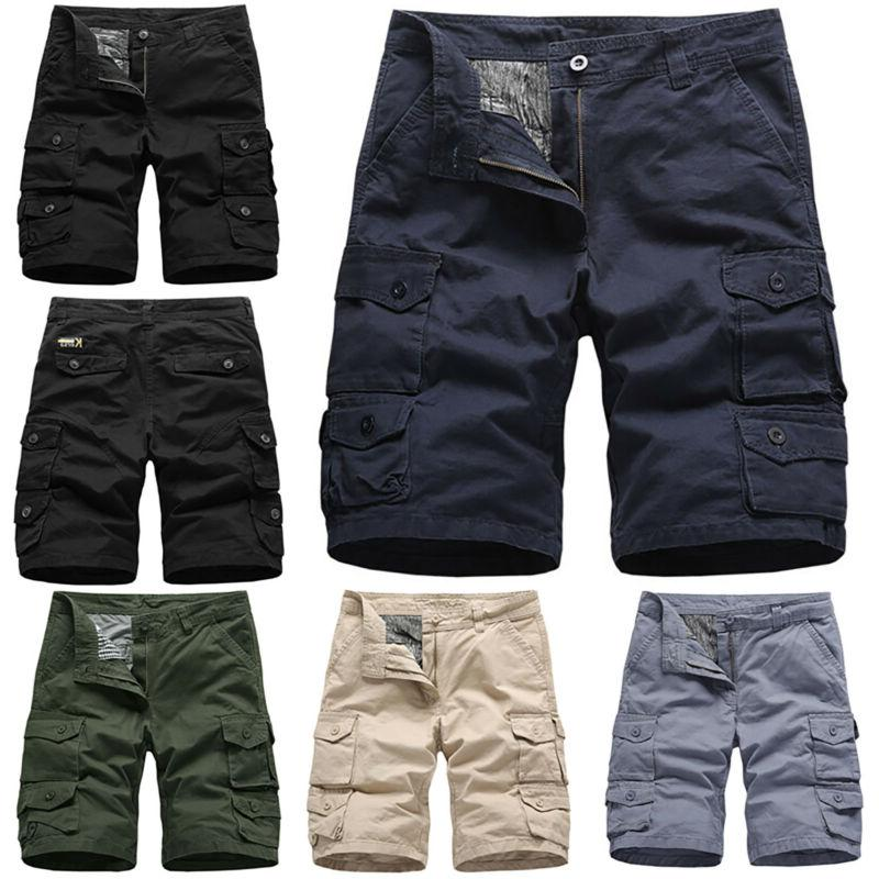 Mens Casual Shorts Combat Army Cargo Work Trousers