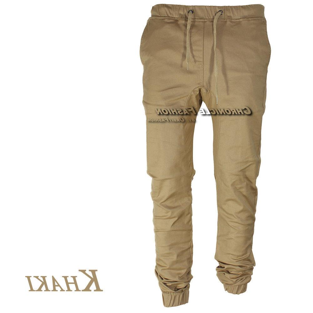 Mens Joggers Hip Hop Jogger Slim Fit Stretch Trousers