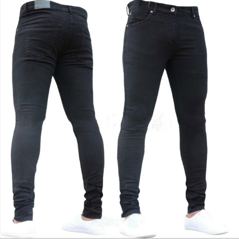 MENS PANTS STRETCH SLIM FIT JEANS ALL & SIZES