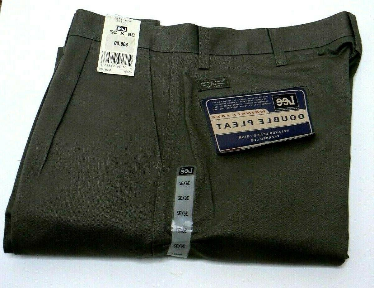 mens double pleat relaxed fit wrinkle free