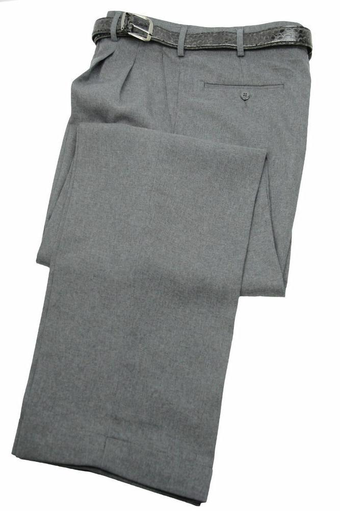 Mens Dress Pants Pleated Belt - Trousers 28 to