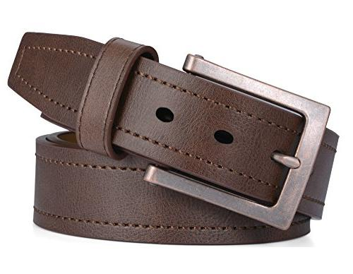 mens genuine leather belt classic jean style