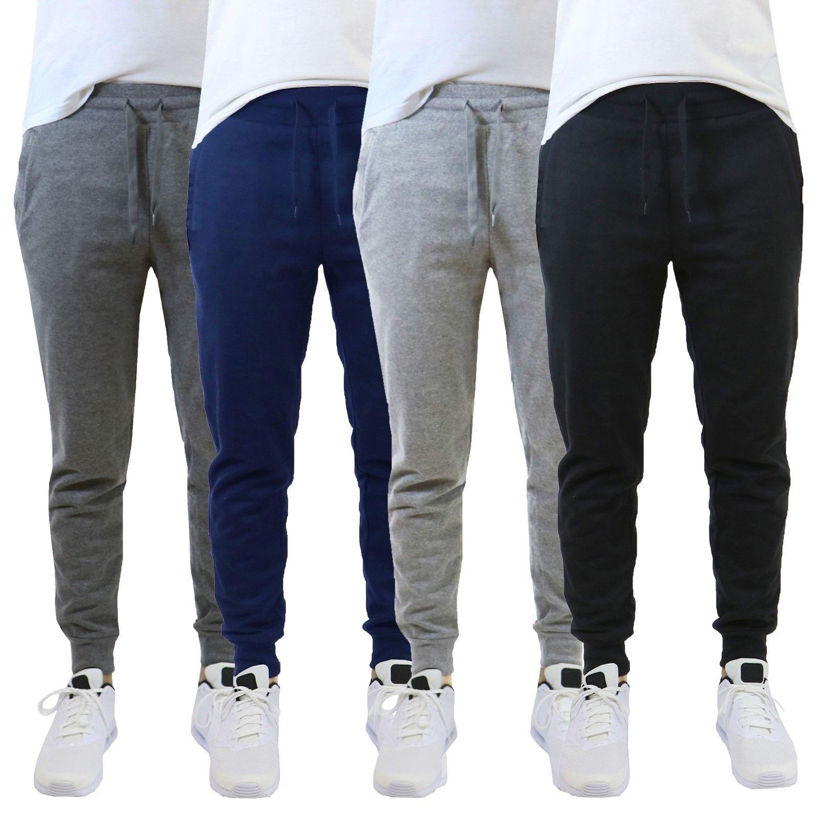 Mens Jogger Pants Sweatpants French Terry Active Gym Lounge