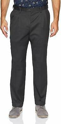 Dockers Mens Pants Dark Gray Size 42x30 Khakis Relaxed Fit S