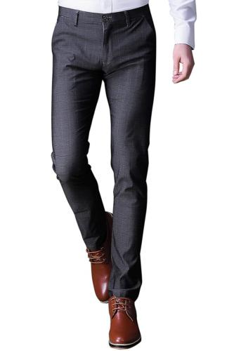 INFLATION Mens Plaid Dress Pants, Wrinkle-Free Stretch Slim