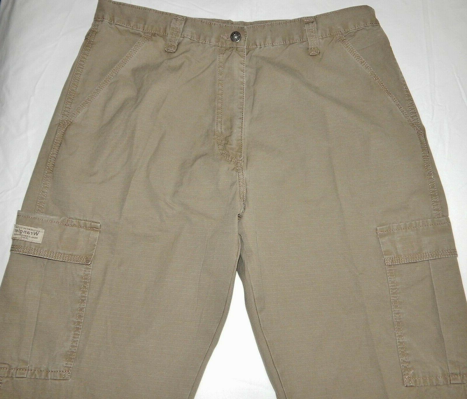 Mens Wrangler Rip-Stop Pants ALL SIZES Khaki