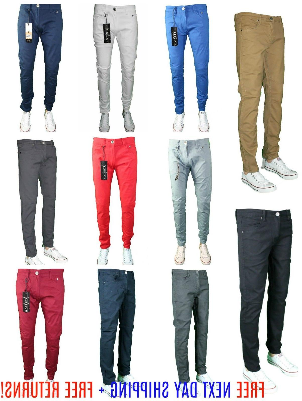 Mens SLIM Trouser Casual Pant