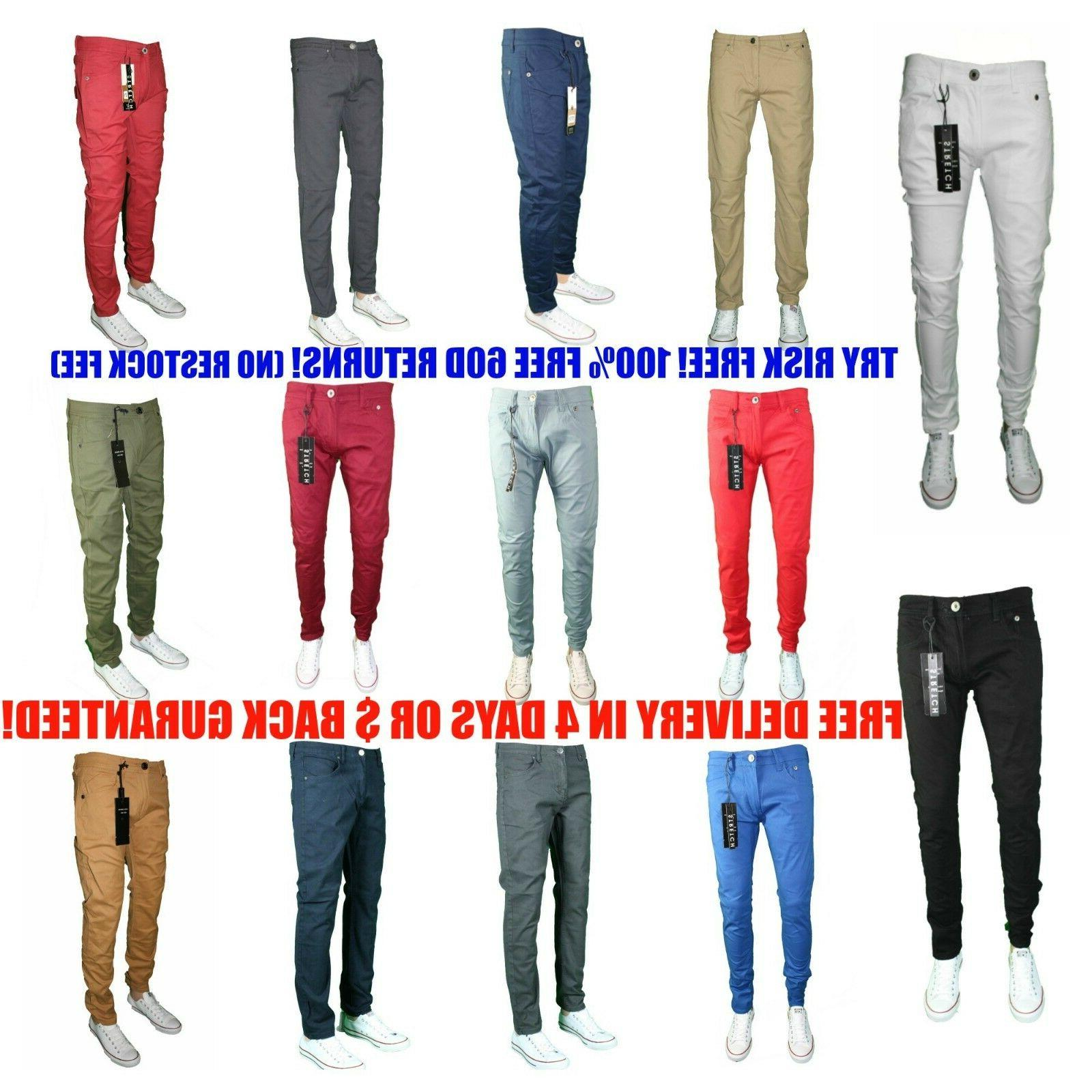 Mens SLIM FIT SLIM FIT Trouser Casual Pant Size
