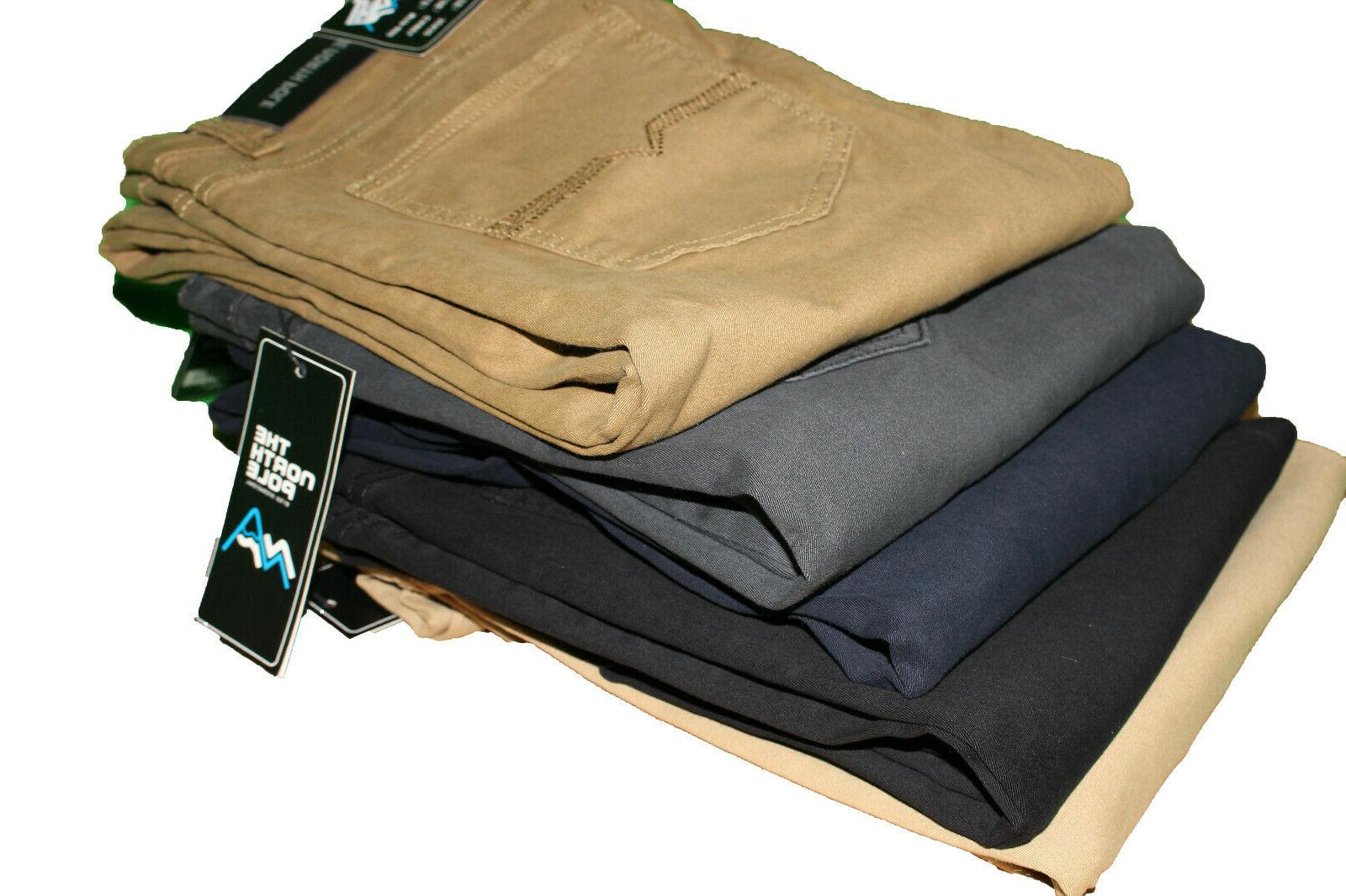Mens Slim FIT Chino Trousers Casual Flat Front Flex