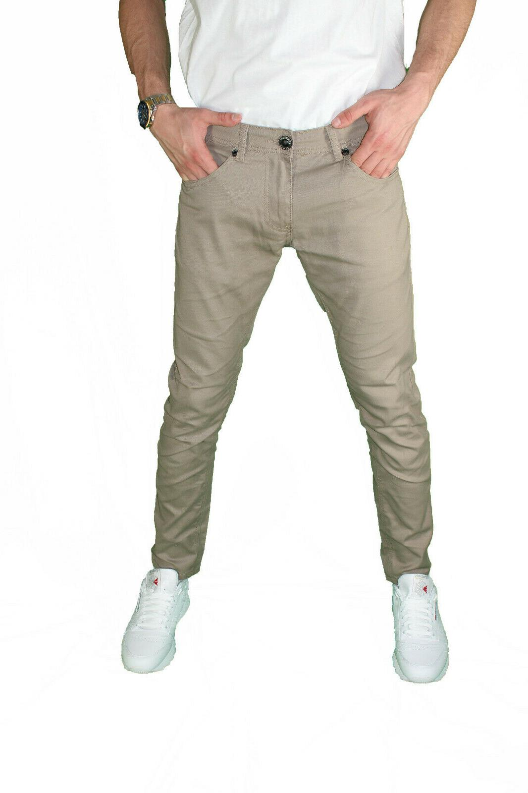 Mens Slim Fit Pants Fashion Casual Trouser Chino Stretched Pant NEW
