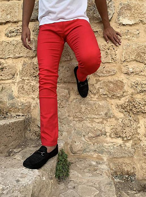 Mens Fit Stretch Pants Fashion Casual Chino Jean NEW