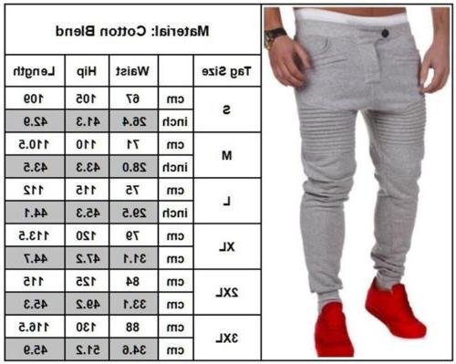 Mens Tracksuit Bottoms Skinny Gym Sweat Trousers