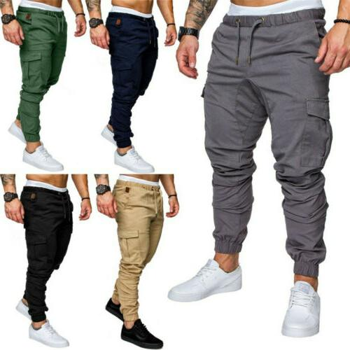 Mens Sport Pants Long Trousers Tracksuit Gym Casual Workout