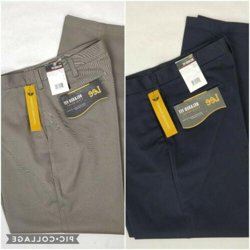 mens stain resist relaxed fit flat front