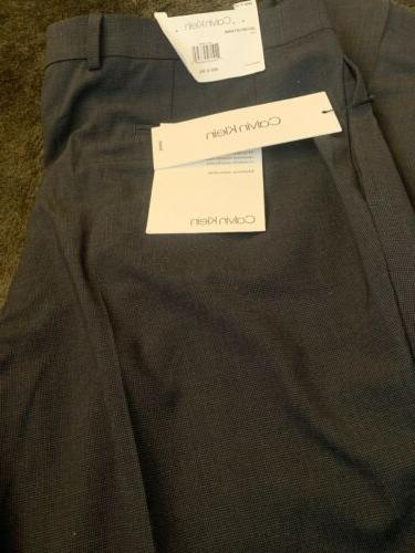 Calvin Klein Mens Stretch Waistband 36X30 Dress Pants Light
