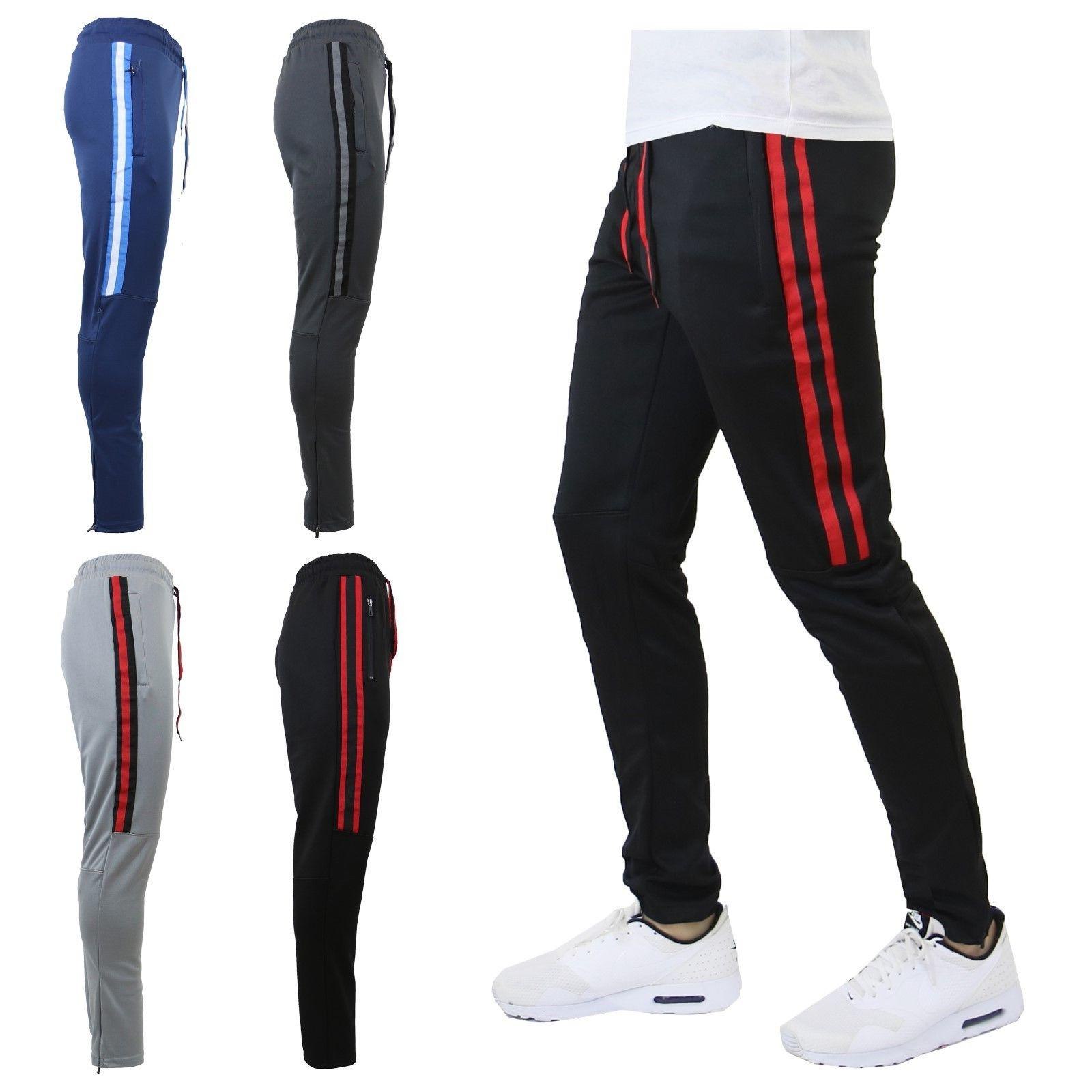 mens track jogger pants slim fit sweatpants