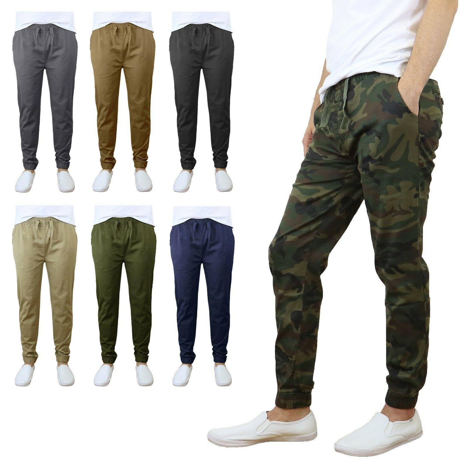 mens twill active jogger pants w tapered