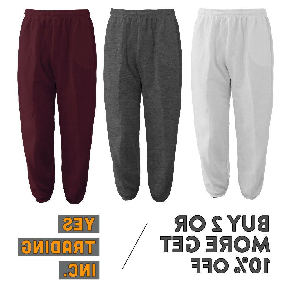 mens womens unisex plain sweatpants 3 pocket