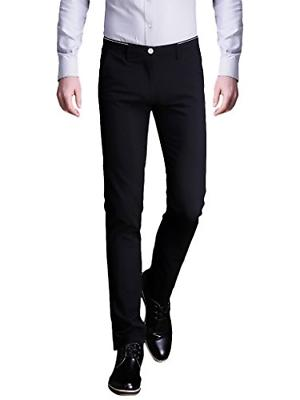 INFLATION Mens Wrinkle-free Slim-Tapered Stretch Casual Pant