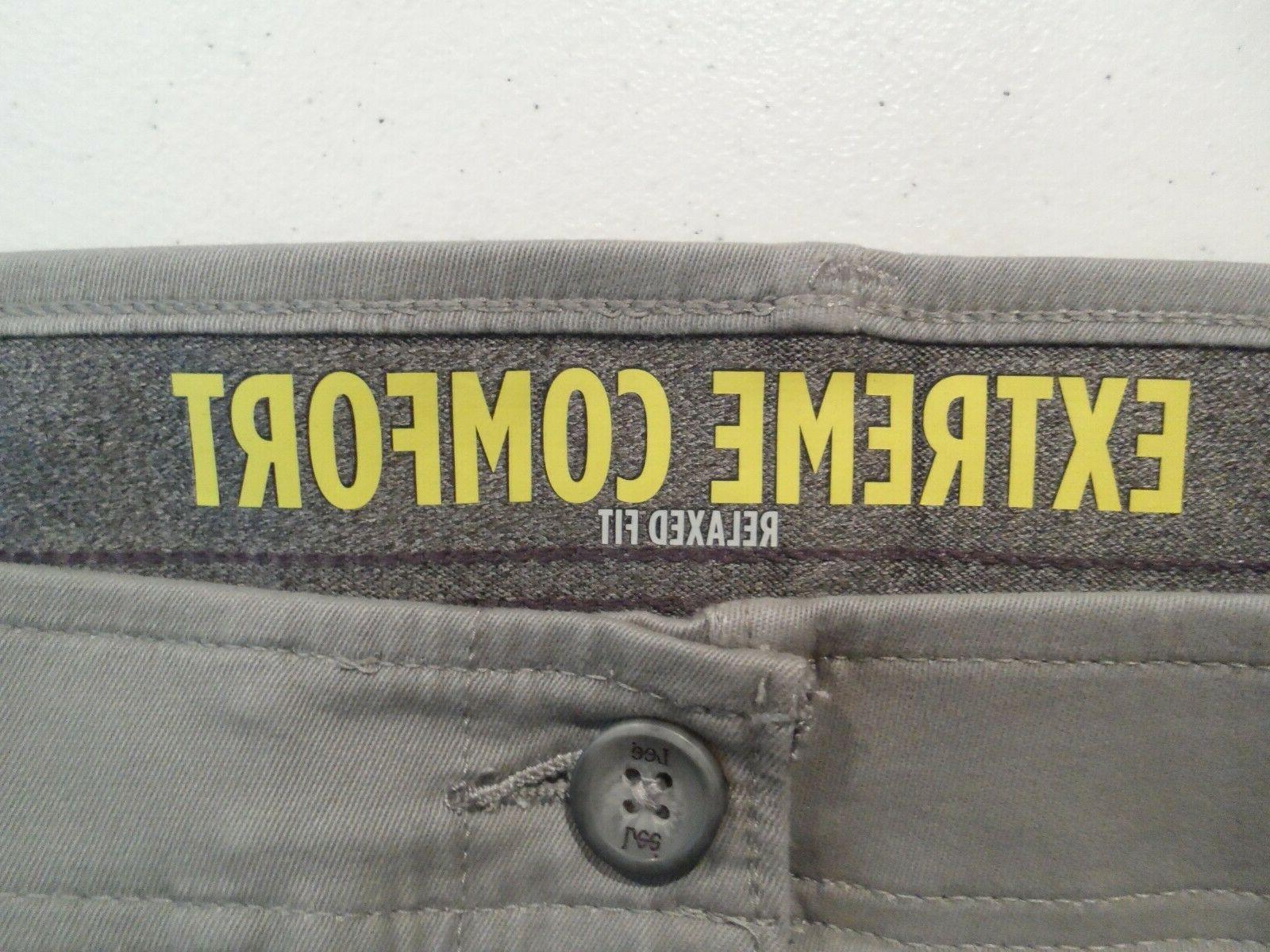 NEW Lee Comfort Pants Size Relaxed Gray 4276506