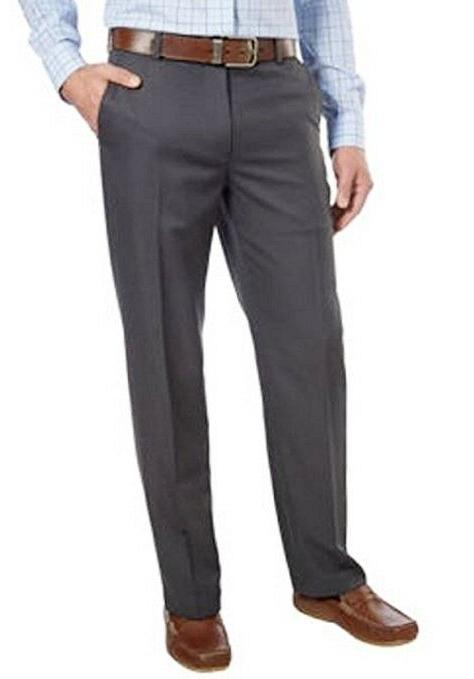 NEW MENS 40X32 CHARCOAL GREY IZOD 4 WAY STRETCH PERFORMANCE