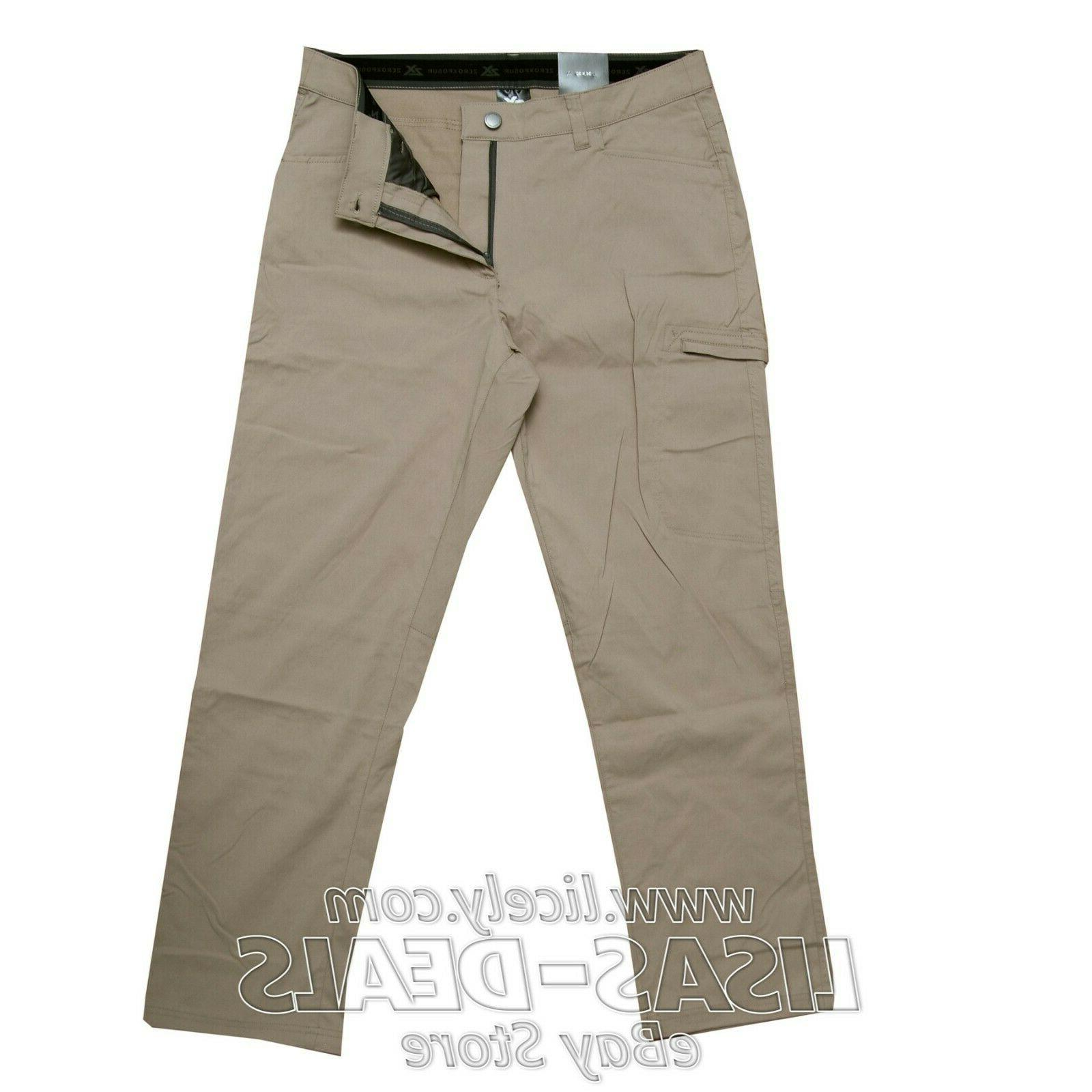 new mens stretch travel pants zip cargo