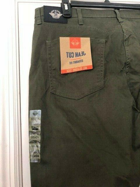 NWT$58 DOCKERS JEAN STRAIGHT Fit ALL TECH PANTS 56790-0004 32