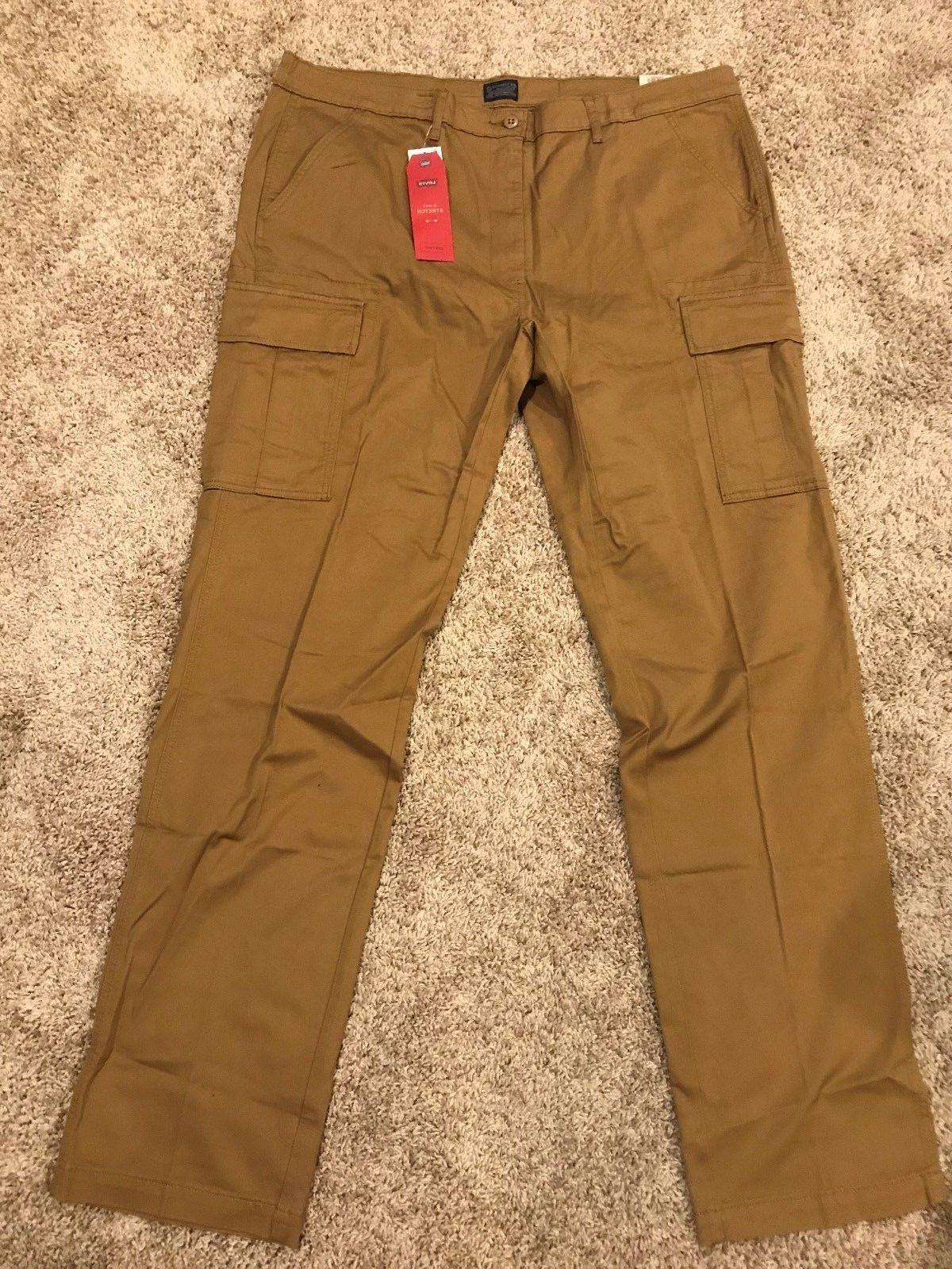 MENS ATHLETIC FIT W/STRETCH CARGO PANTS BIG&TALL SIZES NEW