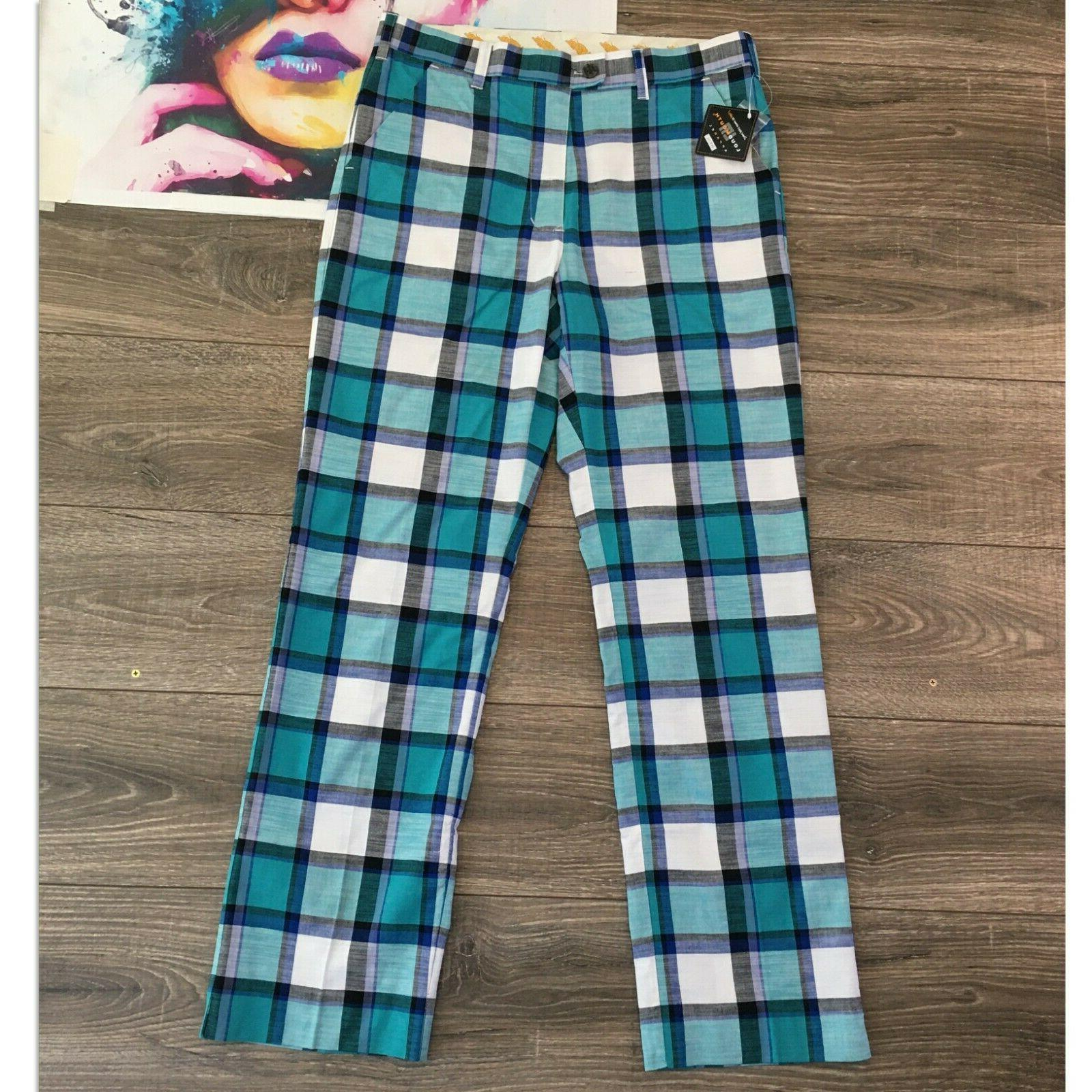 ⛳️ Loudmouth Pants Mens Check Size Flat New