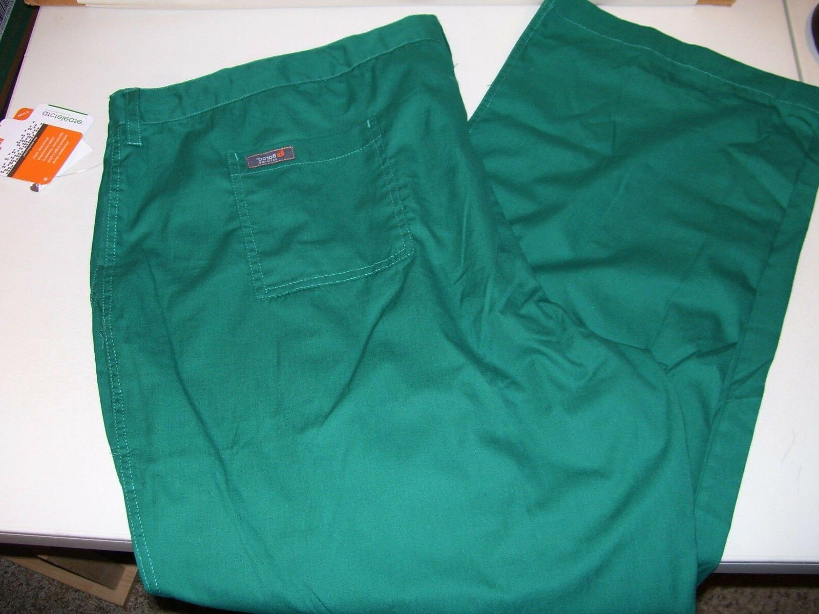 NEW MEN'S BARCO SCRUB PANTS SIZE 3XL HUNTER GREEN PANT