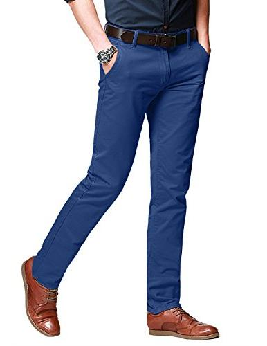 slim fit tapered stretchy casual