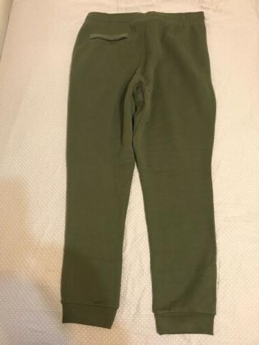 Nike Size Large Fleece Pants Olive Green Rare