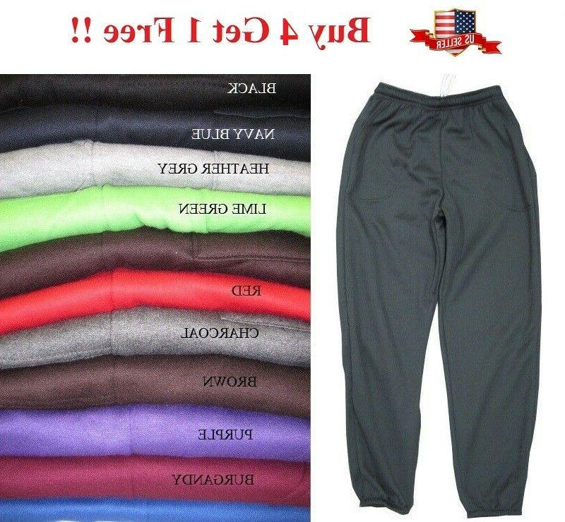unisex mens women fleece 3 pocket sweatpants