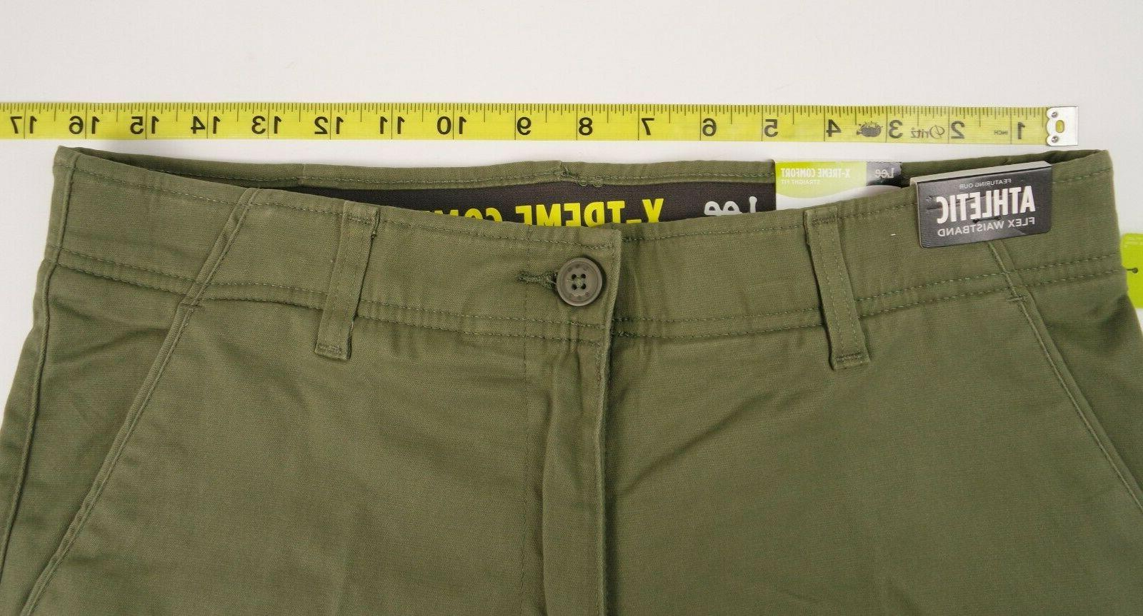 Lee Comfort 32X32 Front Straight Fit Moss Green Pants