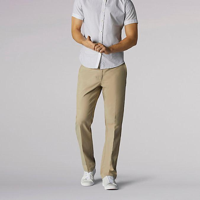 LEE Extreme Pants Straight Fit Stretch Khaki Wrinkle